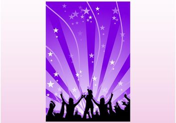 Party Poster Vector - vector gratuit #156033