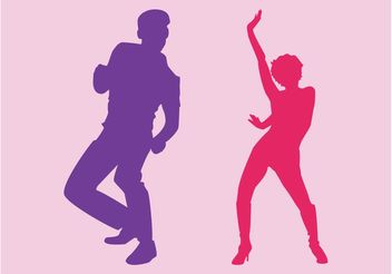 Party Dancers - Free vector #156043