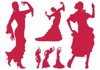 Flamenco Dancer Silhouettes - бесплатный vector #156103