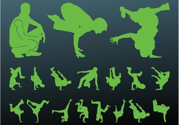 Breakdancer Silhouettes - Kostenloses vector #156123