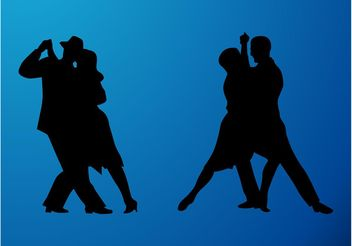 Dancing Couples - vector gratuit #156253