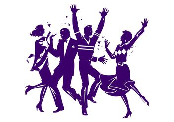 Dancing Party People Graphics - Kostenloses vector #156333