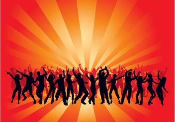 Dancing Crowds Background - бесплатный vector #156403