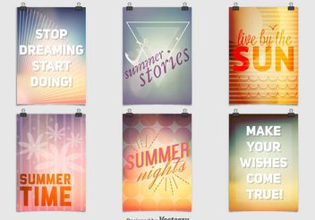 Summer Party Posters - Kostenloses vector #156433