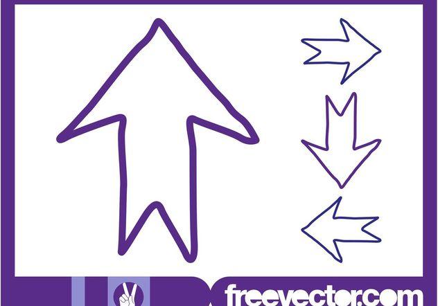 Descargar Vector Flechas De Dirección De Dibujado A Mano