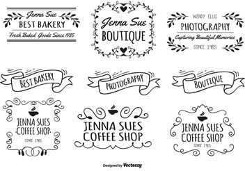 Hand Drawn Label Set - vector gratuit #156623