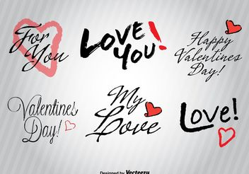 Hand drawn Love signs - vector gratuit #156653