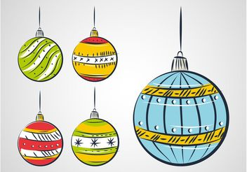 Christmas Balls Drawing - Free vector #156683