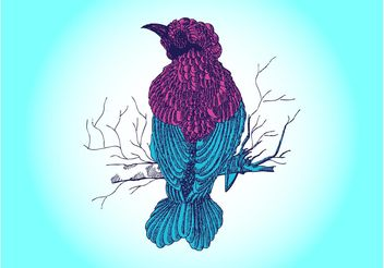 Bird Drawing Vector - бесплатный vector #156713