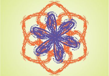 Hand Drawn Flower - vector #156723 gratis