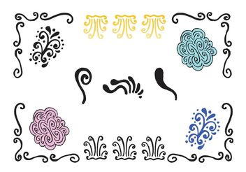 Free Swirly Lines Vector Series - бесплатный vector #156733