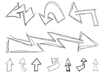Doodled Arrows - vector gratuit #156753