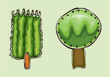 Cartoon Vector Trees - Free vector #156803