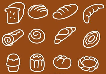 Hand Drawn Bread Vector Icons - Free vector #156903