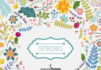 Spring Floral Vector Background - vector #156913 gratis