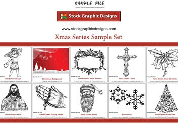 Xmas Series Sample Set - vector gratuit #156953