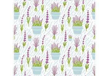 Free Lavender Flower Seamless Pattern Vector - бесплатный vector #156963