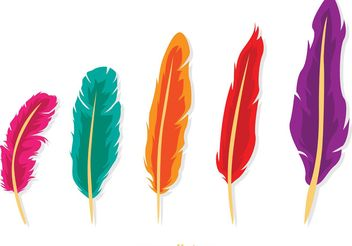 Isolated Feather Vector Pack - vector gratuit #156993
