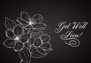Free Flower Get Well Soon Vector Card - Kostenloses vector #157013