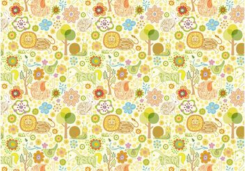 Animals Pattern - vector gratuit #157043