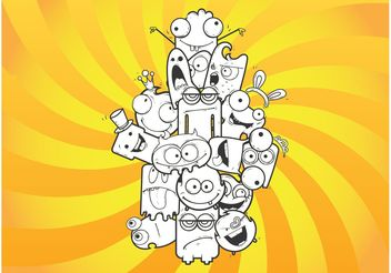 Crazy Cartoons - Free vector #157083