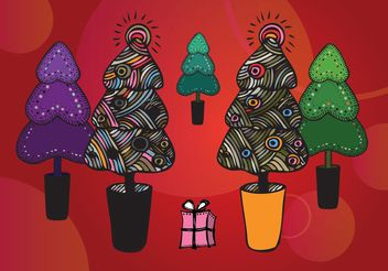 Free Christmas Tree Illustrations - vector #157333 gratis