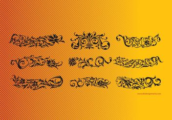Floral Scrolls - Free vector #157353