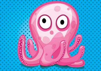 Octopus Cartoon - Free vector #157383