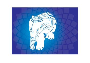 Asian Elephant Vectors - Free vector #157423