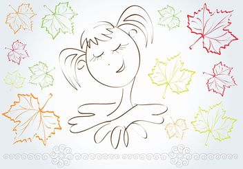 Autumn Girl - Free vector #157433