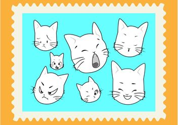 Kitten Cartoons - vector gratuit #157503