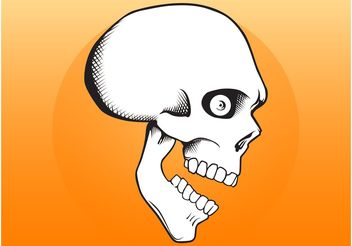 Cartoon Skull - vector gratuit #157523