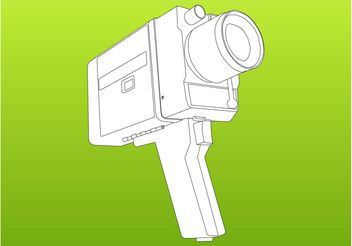Camera Vector Graphics - Kostenloses vector #157543