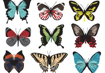 Butterfly Vectors - Free vector #157603