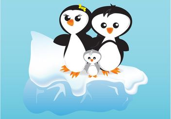 Cartoon Penguins - vector gratuit #157693