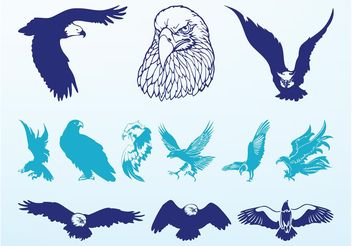 Eagles Graphics Set - Kostenloses vector #157763