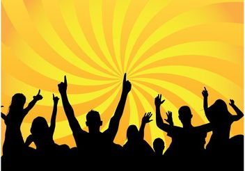 Party Crowd - vector gratuit #157873