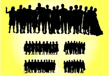 Crowd Vectors - vector gratuit #157893