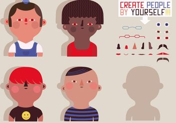 People Vector Silhouettes - vector #157963 gratis