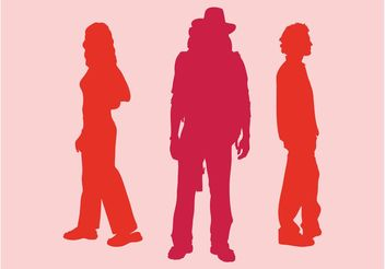 Silhouette People Graphics - Free vector #157993