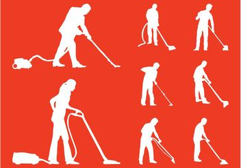 Cleaning People - vector gratuit #158013
