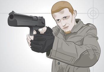 Shooting Man - vector #158023 gratis
