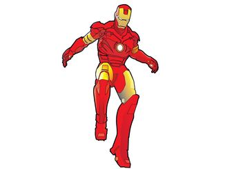 Iron Man Vector - vector gratuit #158063