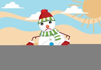 Melting Snow Man Vector - Free vector #158073