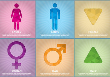 Gender Vector Templates - vector gratuit #158193
