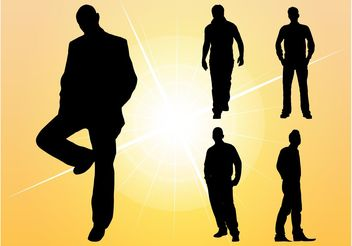 Silhouette Men - Free vector #158243
