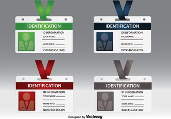 Identification Card Vectors - Free vector #158313
