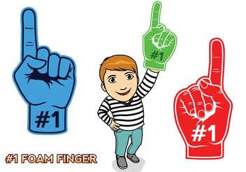 #1 Foam Finger - vector #158383 gratis
