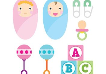 Baby Vector Icons - Free vector #158433