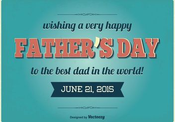 Vintage Father's Day Illustration - Free vector #158463